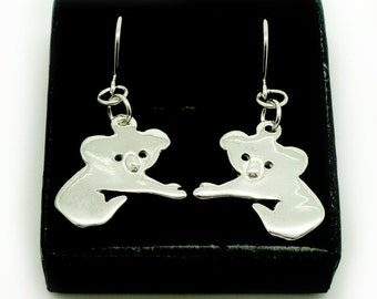Sterling Silver Koala Earrings