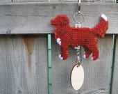 Nova Scotia Duck Tolling Retriever with tail up, Toller, crate tag dog art hang anywhere handmade, Magnet option