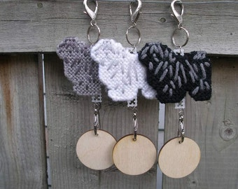 Puli crate tag dog or hang anywhere as a art decorative display, Magnet option, Choose your color