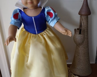 Snow White Princess dress for American Girl Doll