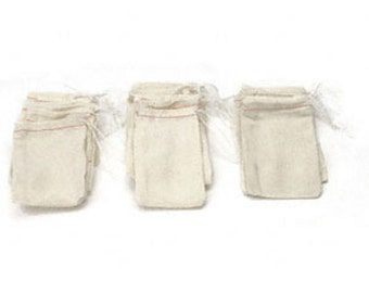 Muslin herb bag, 3in by 5in (set of 5)