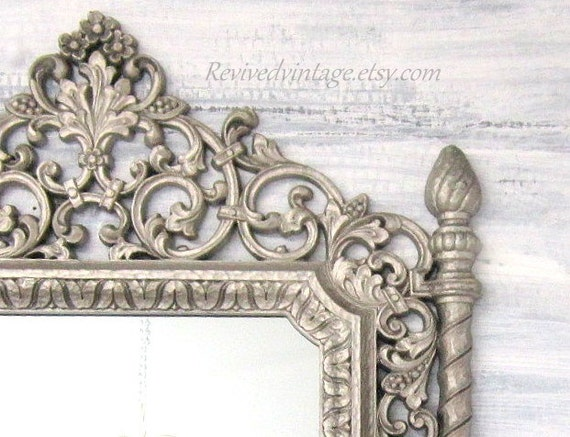 Decorative vintage mirrors for sale silver framed mirror for Silver mirrors for sale