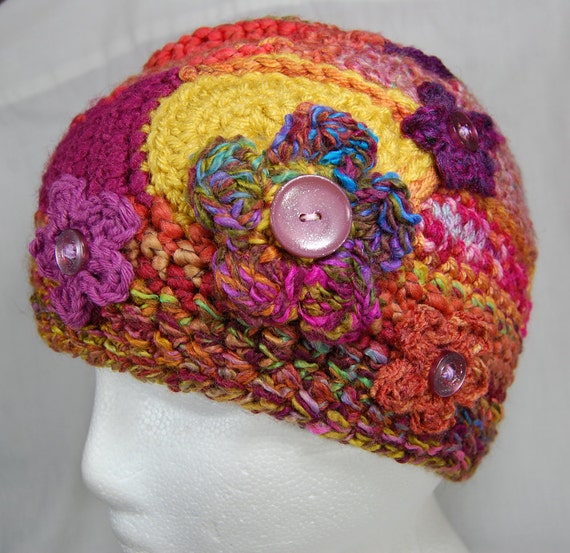 RESERVED for Coretta - Freeform Crochet Hat - Crochet Hat