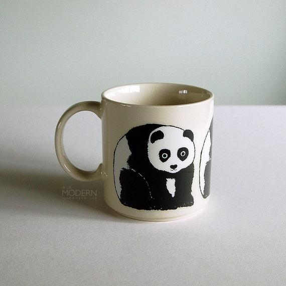 Taylor and Ng Wonda Panda Mug Japan Vintage