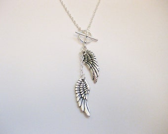 Angel Wing Toggle Necklace