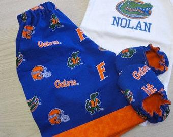 Florida Gators Pants or Shorts with Matching Crib Shoes Set