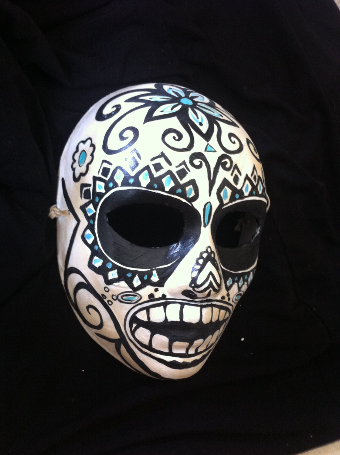 Day of the Dead Savages Fan Sugar Skull Mask