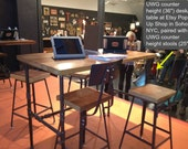 """industrial desk with reclaimed wood and pipe legs, 48""""L x 26"""" Wx 30"""" H, 1.65"""" top with 1 drawer included"""