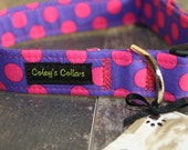 "Dog Collar Custom ""The Polka in Purple"""