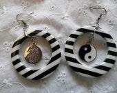 Summer Hoop and Yin Yang Earrings