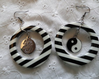 Summer Hoop and Yin Yang Earrings