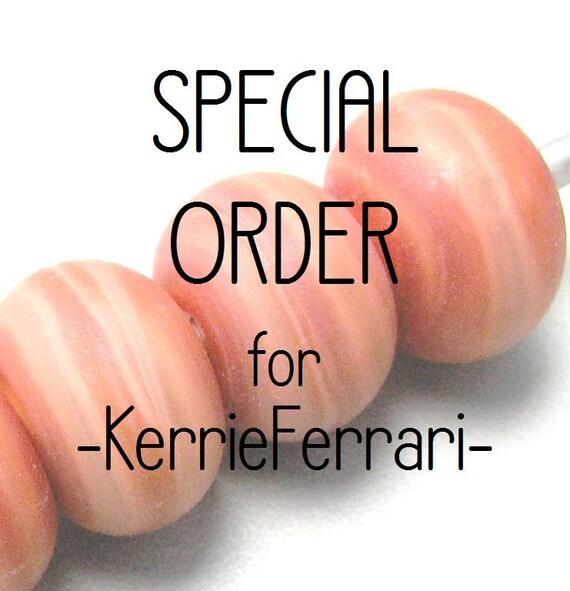 SPECIAL ORDER for -KerrieFerrari- Terra Cotta spacer glass beads