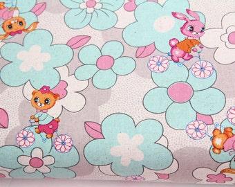 Pitic Pitica canvas fabric 1 yard, japan fabric