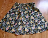 Floral Skirt - Size XS - S - Pink Yellow Black