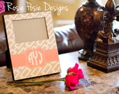 Personalized Monogrammed Picture Frame-Design Your Own