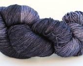 Seda Sock - Silky Merino Fingering - Black over Lilac