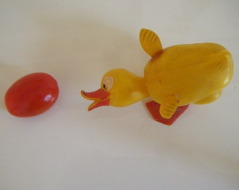 Vintage Toy Duck Head Nodder Plastic Head Nodder Duck