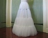 Bridal Bliss Soft Chiffon Crinoline - Single Layer 4-Tier Wedding Petticoat - Lightweight - Full Length