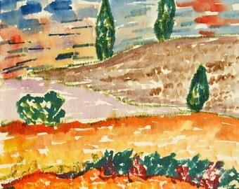 Watercolor Original dreams number 27