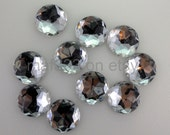 B0004 - Set of TWENTY-FIVE (25) pieces -  22 MM Clear Rhinestone Circles