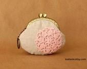 Coin purse---Pink motif