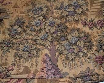 Vintage Tapestry Clutch Purse wristlet handbag