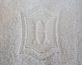 Double Framed Embossed Monogram Machine Embroidery Designs