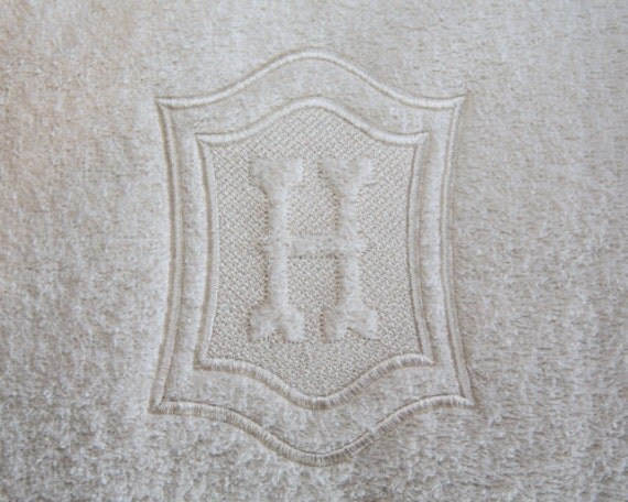 Double Framed Embossed Monogram Machine By
