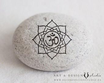 Spiritual Wall Art, Meditation Print, Lotus Flower Art, Zen Namaste Buddha Print, Yoga Wall Art, Yoga Studio Decor, OM Symbol, Positive Art