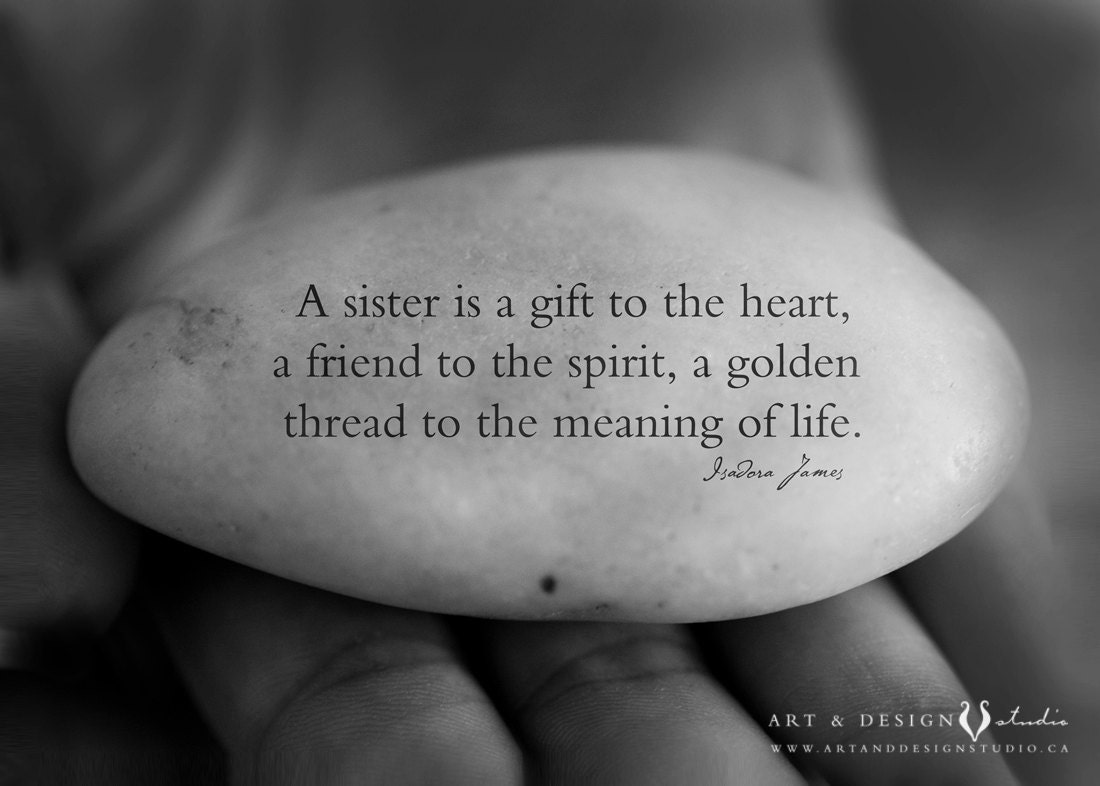unique sister gift sisters quote best friend quote bff