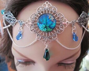 Emerald Circlet of the Forest Priestess Elven Celtic Druid LARP Bridal Renaissance