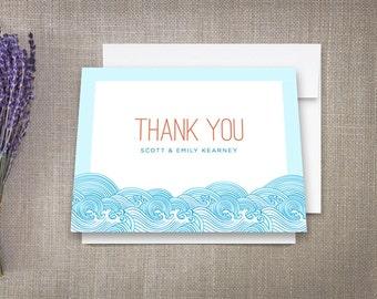 Thank You Cards Beach Ocean Waves