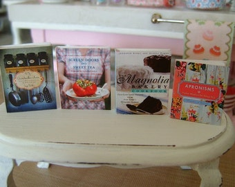 BAKING COOKBOOKS - Country Southern Cottage Cooking - Dollhouse Miniature 1:12 Scale