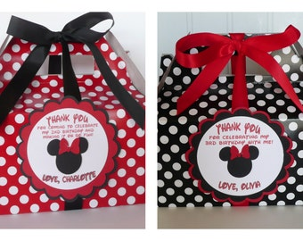Minnie Mouse Favor Boxes - set of 12