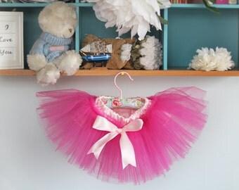Hot pink tutu skirt, Baby girl tutu skirt in vintage style petit ballerine - photo prop