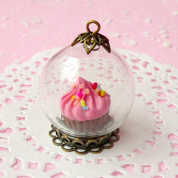 Snow Globe Pendant - Miniature Sweet Etsy Shop