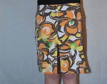 Recycled tee shirt skirt  small S0025