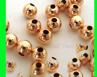 100pcs 2.5mm 14k ROSE gold filled plain seamless round bead spacers RB01