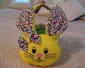 Easter Basket Bunny- Great for Baby's First Easter Handmade
