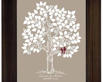 Custom Wedding Guest Book Gift Wedding Guestbook Alternative Tree Original Wedding Personalized Wedding Guest book Wedding Keepsake Bridal