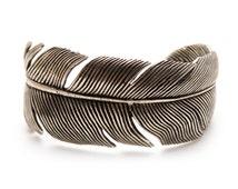 Silver Feather Bracelet Wrap Bangle Cuff High Fashion for Women