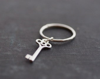 Dangling Key Ring - Sterling Silver - Made to Order