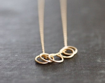 Golden Rings on 14kt Goldfill Chain Necklace