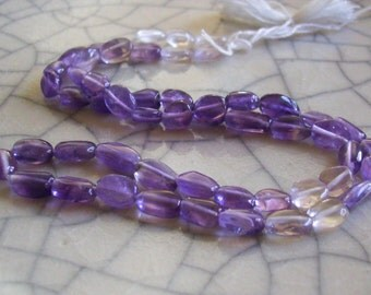 Amethyst - Shaded Oval Beads - full strand