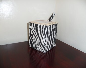 Kaaachews Hanging Tissue Holder for the Car-     Black and White Zebra