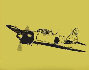 Vinyl Wall Decal Sticker World War II Fighter Plane item 348A