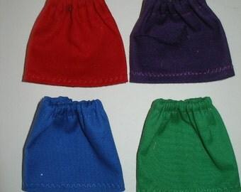 "Handmade 11.5"" fashion doll skirts - pack of 4"