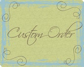 Final Payment - Custom Order Wedding Cake Topper -  for Tracy Only