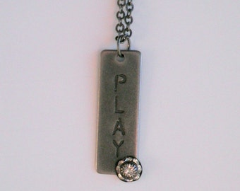 Dog Tag-Style PLAY Pendant