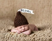 Newborn Hershey Kiss Hat Crochet Pattern- Brand New Pattern